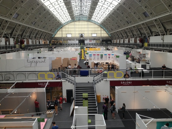 View from the bridge-New designers set up day.